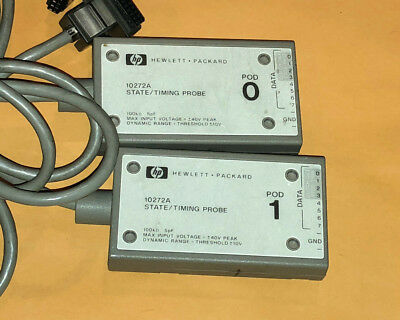Qty 2 -  Agilent HP 10272A State/Timing Probes, Pods 0 & 1