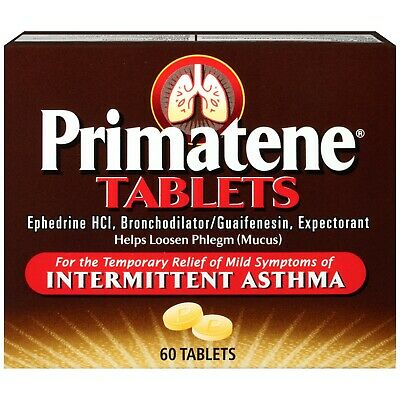 Primatene Asthma Tablets 60 CT Brand New Free Same Day Shipping