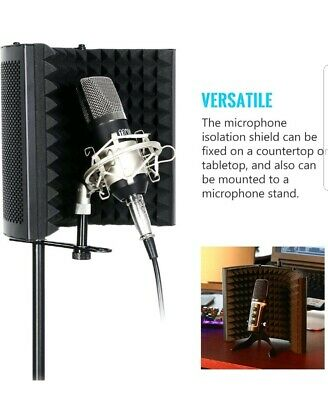 Microphone Isolation Shield, Studio Mic Sound Absorbing Foam Reflector