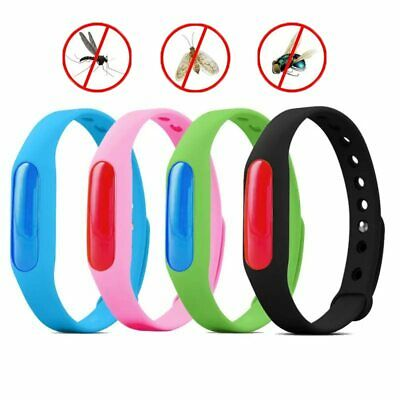 5Pcs/Set Anti Mosquito Pest Bug Repellent Wrist Band Bracelet Insect Bangle Lock