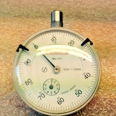 PEACOCK NO. 107-F DIAL INDICATOR GAUGE 0.01mm X 10mm  with sub dial and block