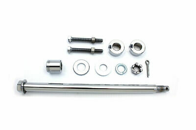 Chrome Rear Axle Kit for Harley Davidson by V-Twin