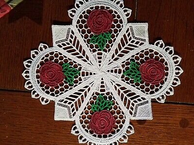 Small Trivet Doily (Old Country Roses) Hand-Crafted Lace