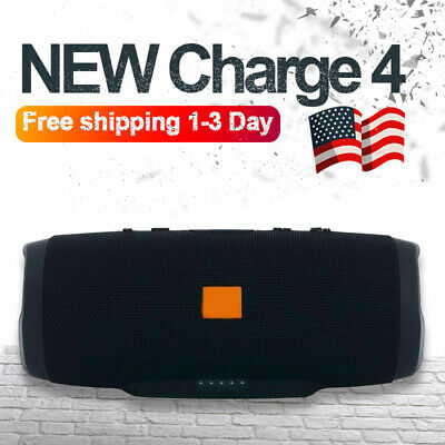 New Charge 4+ Edition Portable Waterproof Red Bluetooth Speaker Wireless Bass US
