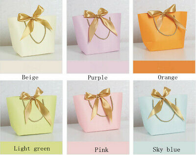 5pcs/lot Luxury Boutique Shop Ribbon Tie Gift Bags Rope Handle Dressing Bag