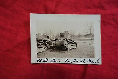 Original Photograph French Renault FT Tank WWI US Army