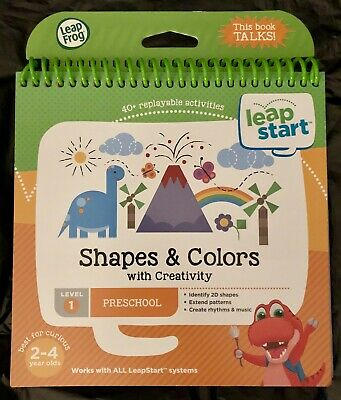 New LEAPFROG LeapStart Shapes & Colors Preschool Learning Book Ages 2-4 Level 1