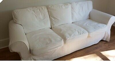 Awesome Ikea Ektorp 3 Seater Sofa Covers Blekinge White Vgc 19 01 Ocoug Best Dining Table And Chair Ideas Images Ocougorg
