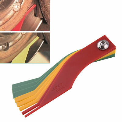 E16F Thickness Gauge Thickness Automotive Brake Pads Ruler Feeler Gauge 8 in 1