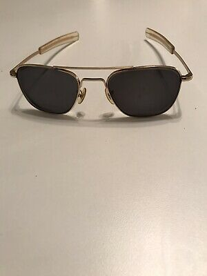 AMERICAN OPTICAL AO 1-10 12K GF GOLD VINTAGE AVIATOR SUNGLASSES (3D) With Case!