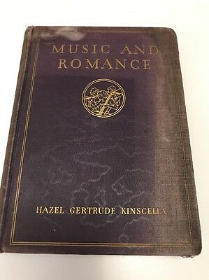 Vintage Music and Romance Book By Hazel Gertrude Kinscella 1930 RCA Victor (B1)