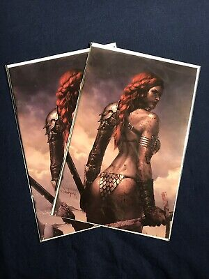 Red Sonja Birth Of She Devil #1 Jeehyung Lee Clean & Bloody Virgin Variant Set