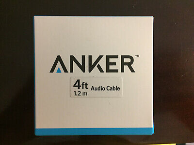 Anker 4-ft Audio Cable Male to Male Car Aux Auxiliary Cord Stereo Headphone New