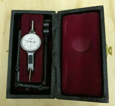 "Interapid Switzerland .001"" 310-B20 Jeweled Indicator Used Vintage with Case"