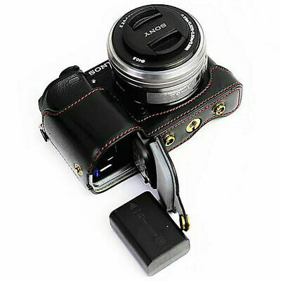 New PU leather camera case bag fit Sony ILCE6300 A6300 with 16-50mm Lens