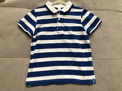 Burberry Boys White Blue Polo Shirt Short Sleeves Size 6 Worn Once