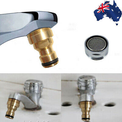 2PC Universal Kitchen Tap Adaptor Hose Water Pipe Connector Copper Tube Fitting