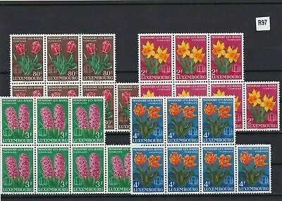 Luxembourg 1955 Mondorf Les Bain`s Flower Show Mnh Stamps  Blocks  Ref 4873