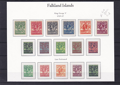 Falkland Islands 1929 - 1937   Five mounted mint stamps R20932