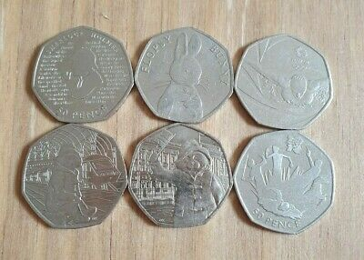 50p Mix Lot Sherlock Holmes Olympic Pentathlon Flopsy Paddington Bears Team GB