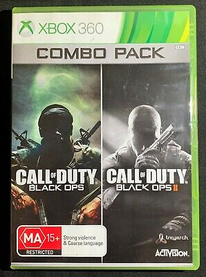 XBOX 360 Call of Duty : Black Ops Combo Pack - Black Op & Black Ops II Microsoft