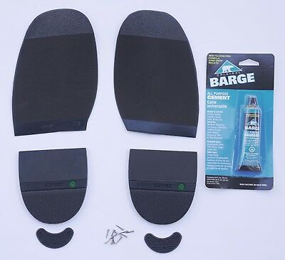Half soles Kit Shoes Boots Rubber over Leather Heels Glue Plates Nails Rubber