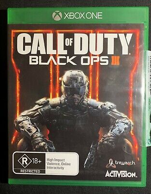 Xbox One - Call of Duty Black ops III 3 GAME - VGC PAL AU Free Post CHEAP !