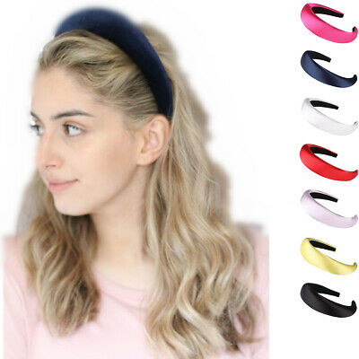 Women's Padded Velvet Headband Hairband Hair Accessories Head Band Crown Party