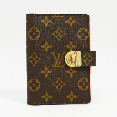 LOUIS VUITTON Monogram Agenda PM R21013 Day Plannne Cover Brown Canvas