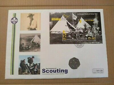 2007 Centenary Of Scouting 50p Mercury Coin Cover FDC PNC