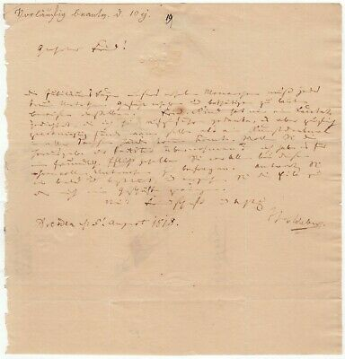 Weber, Carl Maria von (composer) - Autograph letter signed re: his cantata op.58