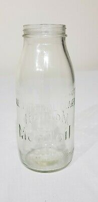 Original Mobiloil 1 Imperial Quart Embossed Oil Bottle