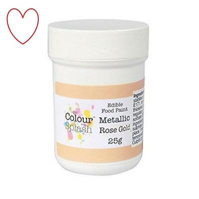 Colour Splash Edible Food Paint Metallic Rose Gold Baking