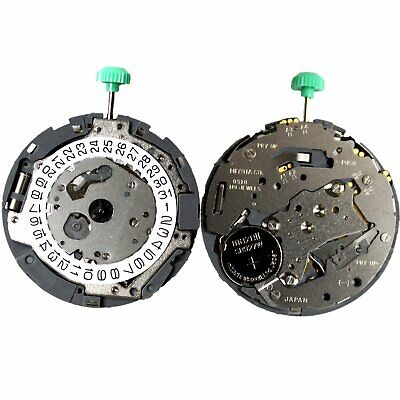 MIYOTA OS10 Japanese Quartz Watch Movement Date at 3' with Attached Stem Battery