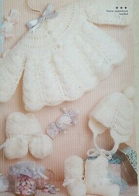 Vintage Knitting Pattern For Babys Matinee Set