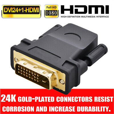 DVID 24+1 Pin Male To HDMI Female Gold Plated Adapter Converter For HDTV Display