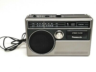 VTG Panasonic Portable 8-track Player AM/FM Radio Model RQ-831 Working *Tested*