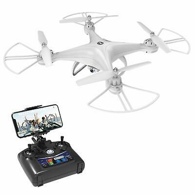 White Drone with Camera Live Video FOV 120WideAngle WiFi Mode RC Quadcopter