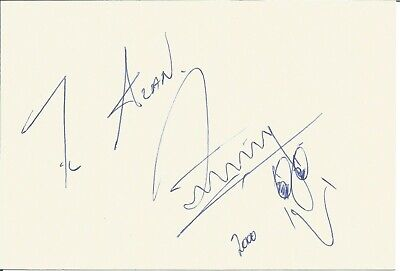 Zinzan Brooke signed dedicated card approx 7 x 5 inches. Rugby Player E1819