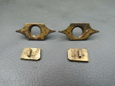 Pair of antique or vintage writing slope brass shot bolts catches spares parts