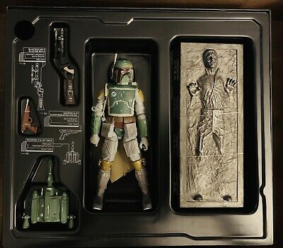 "Star Wars Black Series Boba Fett and Han Solo in Carbonite 2013 6"" Hasbro SDCC"