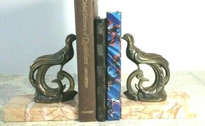 Vintage French Art Deco Bookends Birds of Paradise