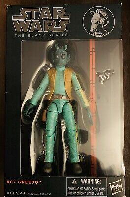 Star Wars Black Series W2 2013-# 07 Greedo  6 Inch Action Figure