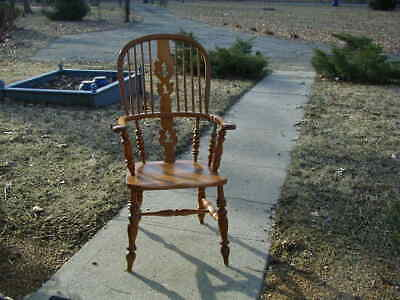 Antique Windsor chair -- 1840  -- feedback NOT as shown