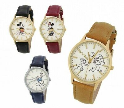 Disney Womens Classical Design Watch 4 Characters WD-B09 J-AXIS Japan Tracking