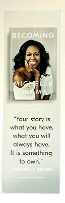 NEW BOOKMARK PROMO SWAG for Becoming by Michelle Obama 's Book