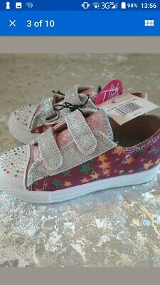 Girls Lily and Dan Light Up Flashing canvas pumps Size 12 Brand New with tags