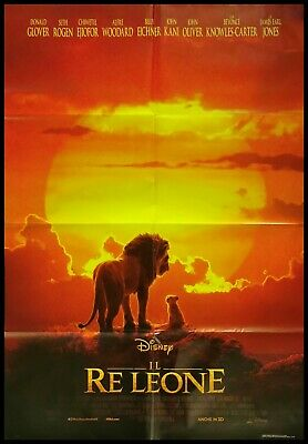 IL RE LEONE Manifesto Film 2F Poster Originale Cinema 100x140 DISNEY PIXAR