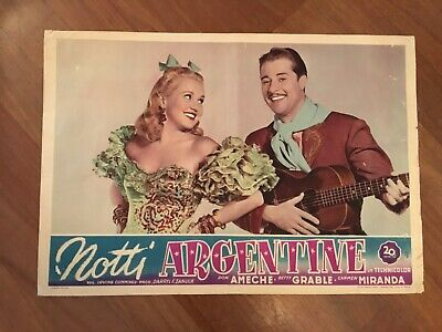 FOTOBUSTA,1949,NOTTI ARGENTINE,Down Argentine Way,Betty Grable,DON AMECHE 1 EDIZ