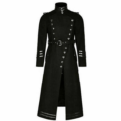 Plague Vintage Doctor Gothic Punk Mens Jacket Coat Steampunk Vintage Cosplay@T